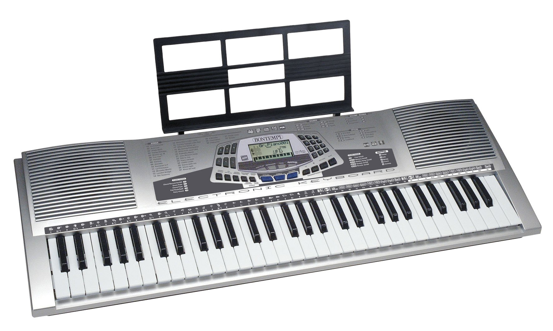 Bontempi PM678 - Tastiera 61 Tasti General Midi Con Display Lcd 100