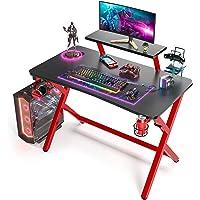 SIMBR Gaming Tische,110 cm, Computertisch Gaming-Tisch mit großem Monitorständer PC-Gaming-Workstation Home-Office…