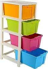 Joyful MHS B00SIQ5IKK Plastic 4 Xtra Large Modular Drawer System (40.8x32.6x32.4cm, Multicolour)