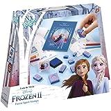 Disney Frozen II zestaw pieczątek z różnymi motywami stempli, pisakami i blokiem malarskim Anna i Elsa