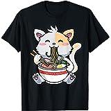 Kawaii Ramen Cat Vêtements d'animation japonais T-Shirt