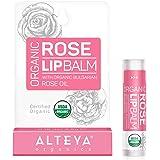 Alteya Organic Balsamo Labbra con olio essenziale di Rosa Bulgara 5 g – USDA certificata organica pura bio naturale ristruttu