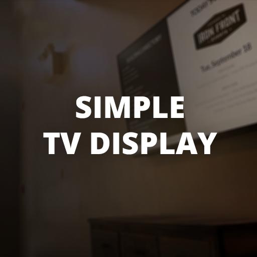 Simple TV Display (No Sleep Webpage TV)