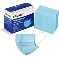 ASGARD 3 Layer Protective Face Mask with NOSE CLIP, Certified by CE, ISO & GMP with Bacterial Filtration Efficiency(BFE…