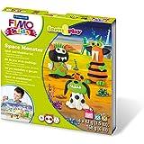Staedtler 8034 17 LYST Space Monster Fimo kids form&play Set (superweiche, ofenhärtende Knete, Anleitung, wiederverschließbare Box, Set mit 4 Blöcken, 1 Modellierstab und 1 Spielkulisse)