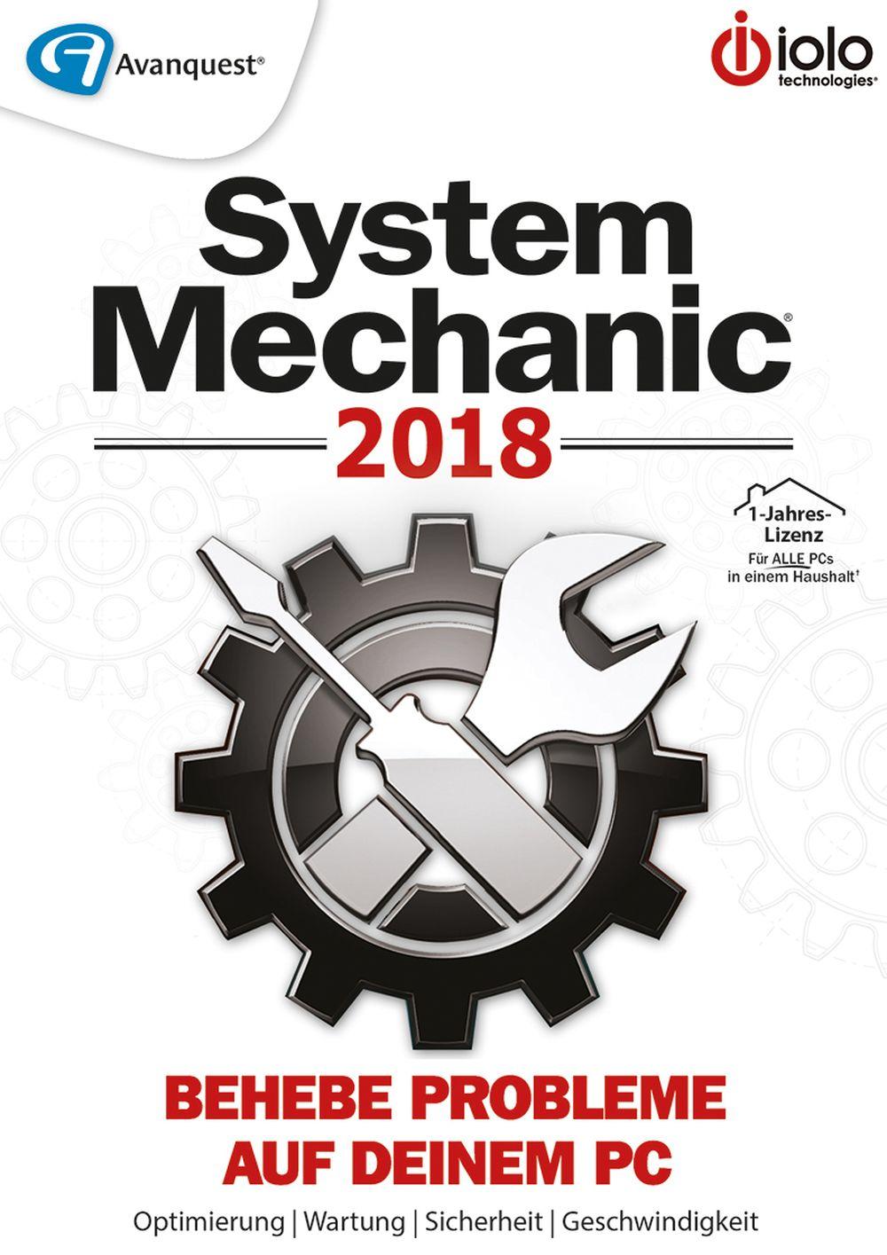 System Mechanic 2018 - Behebe Probleme auf Deinem PC! [Online Code]