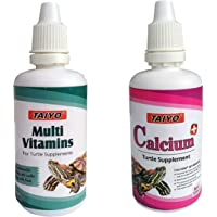 Foodie Puppies Combo Taiyo Turtle Multi Vitamins and Calcium Plus Health Supplements, 50ml Each