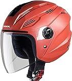Steelbird SBA-6 Hook Dashing Open Face Helmet (Large 600 MM, Dashing Red with Plain Visor)