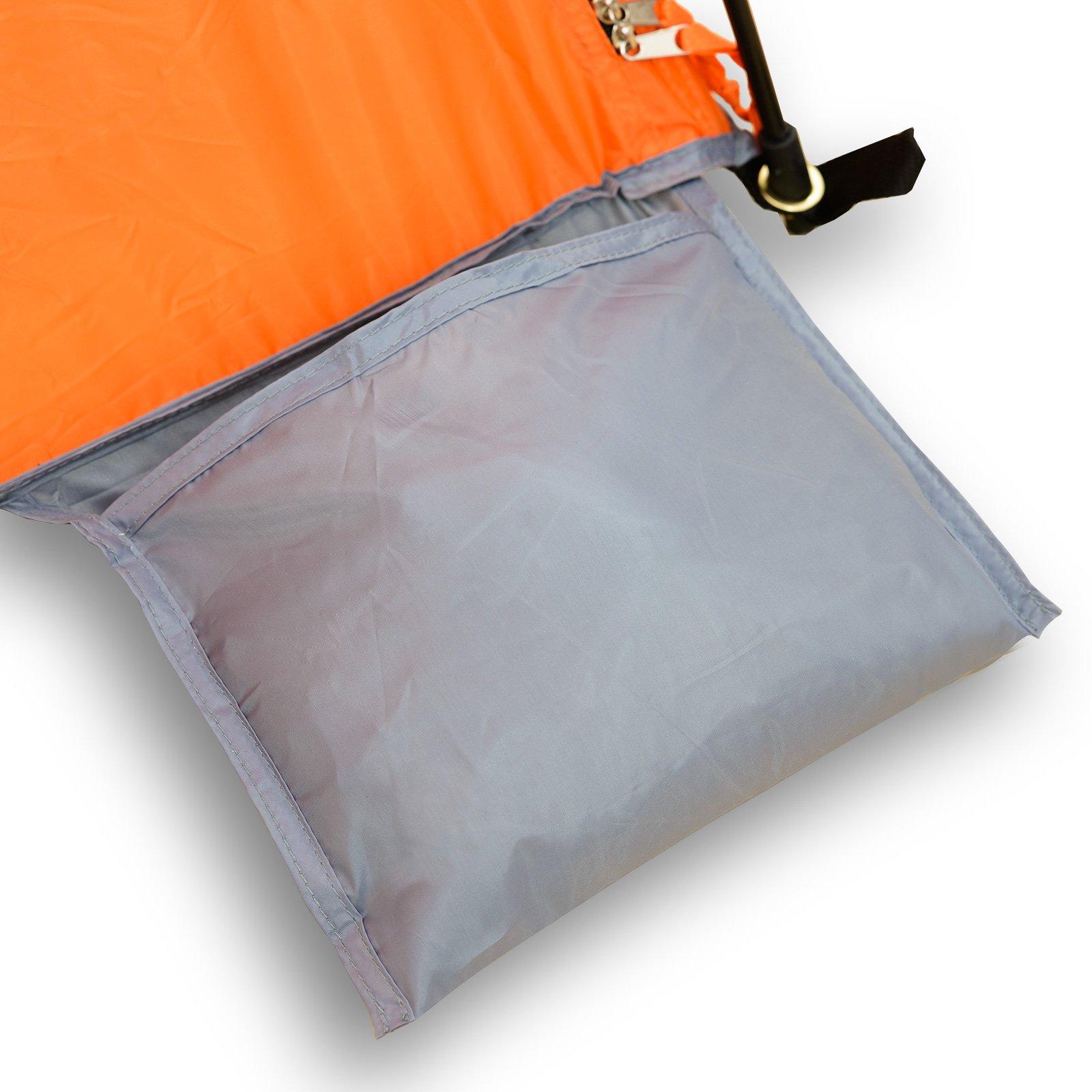 Qeedo Strandmuschel Quick Palm mit UV-Schutz UV80 nach UV-Standard 801 schnell aufzubauender Sonnenschutz - kleines Packma/ß