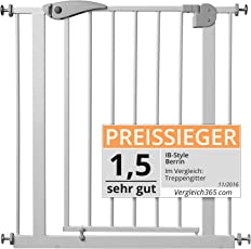 ib style Berrin Treppengitter 67-175 I Auto-Close I 90°Stop I Einhand-Bedienung
