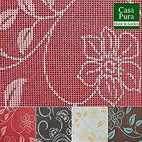 Nappe rectangulaire anti tache casa pura® tissu imperméable   lavable   interieur ou extérieur   Bianca - rouge, 130x160cm