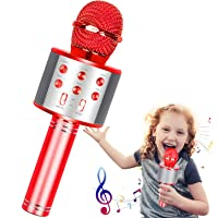 Wireless Karaoke Microphone,Bluetooth Karaoke Microphone 4-in-1 Handheld Portable Karaoke Player, Home KTV Player with Record Function,Compatible with Android & iOS Devices for Home KTV/Party/Kids …