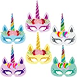 Party Propz Multi Color Unicorn Mask for Kids to Birthday Party Supplies Or Decoration Pack of 12 Pcs