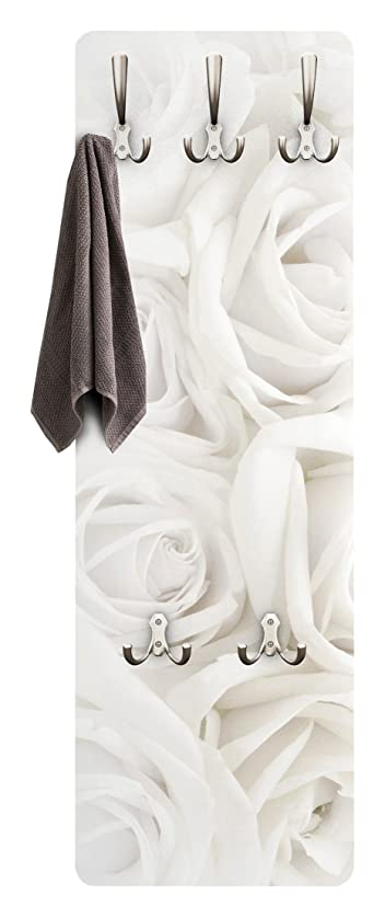 Appendiabiti - White Roses 139x46x2cm, appendiabiti a muro ...