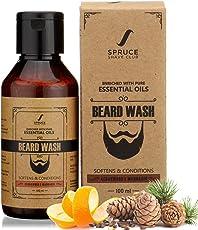 Spruce Shave Club Beard Wash - Enriched with Essentials Oils & Aloe Vera - 100ml (Cedarwood & Mandarin)
