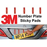 5 Pack Number Plate Sticky Pads, Adhesive Double Sided Stickers, Car License Plate Fixings