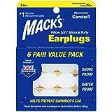 Mack's Silicone Earplugs - White - 6 Pair