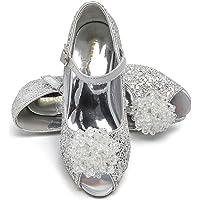 ELSA & ANNA® UK Girls Princess Snow Queen Wedged Party Shoes Sandals PNK16-SH