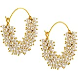Swadev Jewels Bollywood Stylish Traditional Indian Jewelry Hoop Earrings for Women