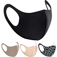 Unisex Reusable Face Mask Protection Washable Facial Skin Mouth Nose Shield Breathable Anti Smoke Pollution Bike Motorcycle Sport (Black)