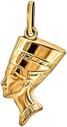 Clever Schmuck - Ciondolo in oro egiziano, 17 mm, in plastica lucida su entrambi i lati, 8 carati