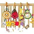 Sonajeros de frutascolgar, juguetes para bebés, aguacate, plátano, naranja fresa, cochecito de bebé juguete para cuna sonajer