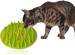 OFKPO Silikon Katzennapf Reisenäpfe,Anti Schling Interaktive Fressnapf für die langsame Fütterung