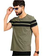 AELOMART Men's Cotton T Shirt-(AMT1020OL-P_Olive)