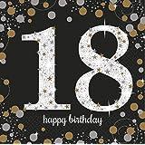 amscan - Serviettes anniversaire '18th Birthday' (Lot de 16)