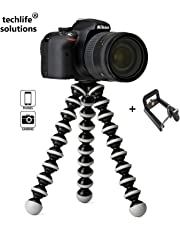 """techlife solutions Gorilla Tripod 10"""" - Fully Flexible Foldable Octopus Medium Size Tripod Stand (10 Inch Height) for Mobile Smartphones & DSLR Cameras"""