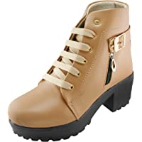 DICY High Heel Girls Shoes High Ankle Boots for Women Sneakers for Girls and Special Occasion