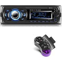 KYG Autoradio Bluetooth Main Libre Radio Voiture avec 2 Ports USB et MMC Card Slot, Supporte Max 32G de Mémoire Lecteur…