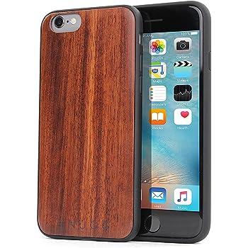 Snugg over iPhone 6 e 6S, Apple iPhone 6 e 6S Custodia Case [Vero Legno] TPU Ultra-Slim Protettiva Pelle - Palissandro