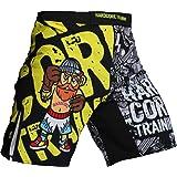 Hardcore Training Doodles Fight Shorts Men's Boxing MMA Combat BJJ Grappling Fitness Muay Thai Kickboxing No Gi