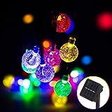 Solar String Light, 50 LED 32Ft Outdoor LED Fairy Lights 8 Modes, Waterproof Crystal Ball Decorative Lights for Festival Cele