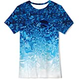 Idgreatim Camiseta de manga corta para niños y niñas con impresión gráfica en 3D.