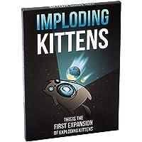 Asmodee EKG-1EXP Imploding Kittens: Die erste Spielerweiterung von Exploding Kittens, Englisch