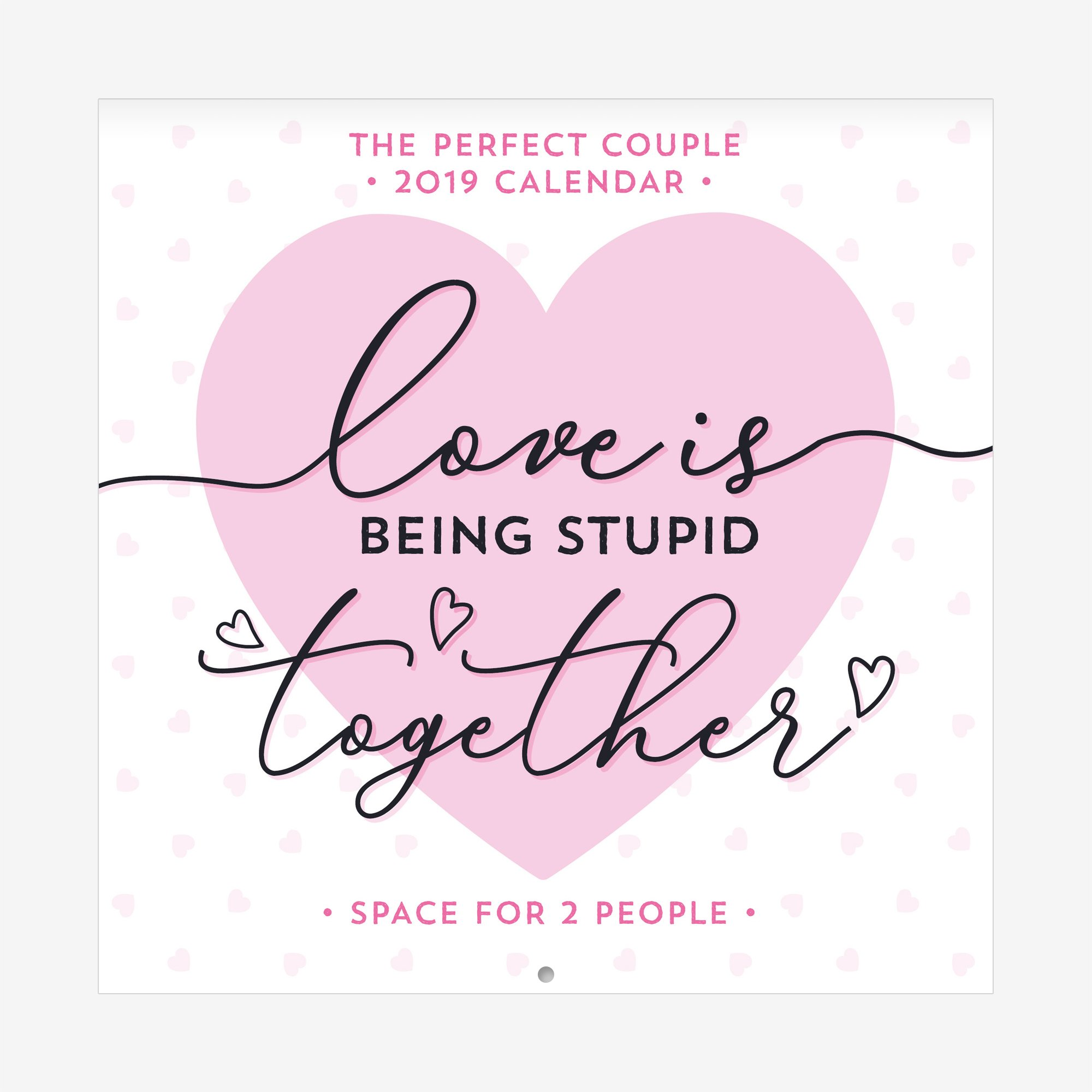 Calendario Legami.Legami Calendario Da Parete 2019 Dimensioni 18 X 18 Cm The Perfect Couple Agenda Perfetta