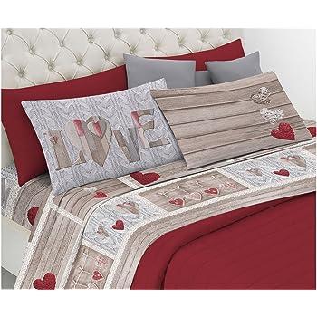 Completo Letto Matrimoniale 100%cotone Art Home & Garden New Orsetti