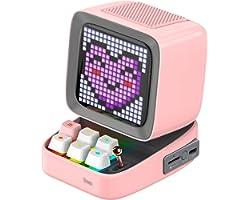 Divoom Ditoo Pixel Art Altavoz Bluetooth Multifuncional, Altavoz portátil Retro con Pantalla LED RGB, Teclado mecánico, Reloj