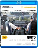 "PilotsEYE.tv | QUITO | Cockpitmitflug MD-11F | Lufthansa Cargo | ""Lady's trip to the closed strip"" | Bonus: Mulitiview landing, Splitscreen 6cams"