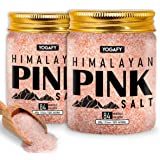 YOGAFY- Himalayan Pink Salt with 84 Minerals for Detox |100 % Natural | 600g Pack of 2 | 1.2 KG |