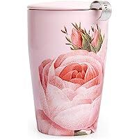 Tea Forte Kati Cup Tasse à thé en céramique avec infuseur et couvercle pour infuser, Jardin