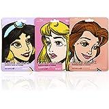 MAD Beauty Vochtinbrengend gezichtsmasker, Disney-prinsessen, jasmijn, mooie en belle, 3 stuks
