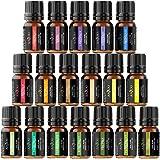 Ätherische Öle Geschenk-Set Anjou 18 x 5 ml (Lavendel, Orange, Pfefferminze, Teebaum, Eukalyptus und mehr) für Diffusor, Luftbefeuchter, Massage, Aromatherapie, Haut-und Haarpflege