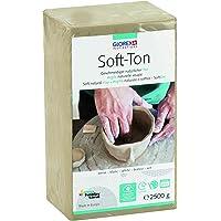 Glorex Soft TON - Terracotta, 2500 g, indurente all'Aria o al Calore, Argilla, Bianco, 2.500 g