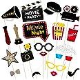 PRETYZOOM Parte Hollywood Foto Accesorios Noche Cine Bigote Apoyos Foto Fiesta Cumpleaños Autofoto, Paquete de 21