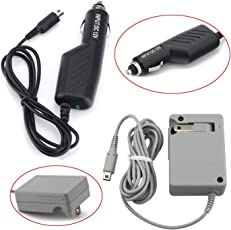 ZMD 2 IN 1 Portable Power Adapter Kit for Nintendo 3DS NDSi Gaming Consoles- AC Wall Home Plug + Car Travel Charger