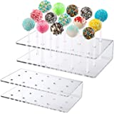 Narayan LNT 15 Holes Acrylic Lollipop Holder,Clear Display Cake Pop Stand,Drying Cooling Decorating Cake Ball Holder for Wedd