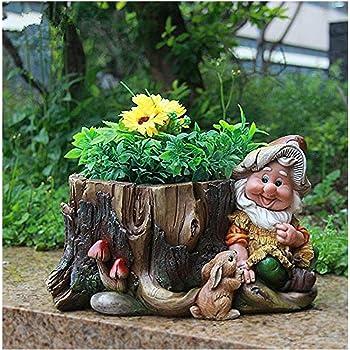 design nain 15198 avec pot fleur 16 cm de haute dcoration jardin jardin dcor de figures